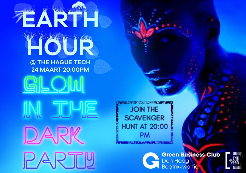 Earth Hour Glow In The Dark Party Green Business Club