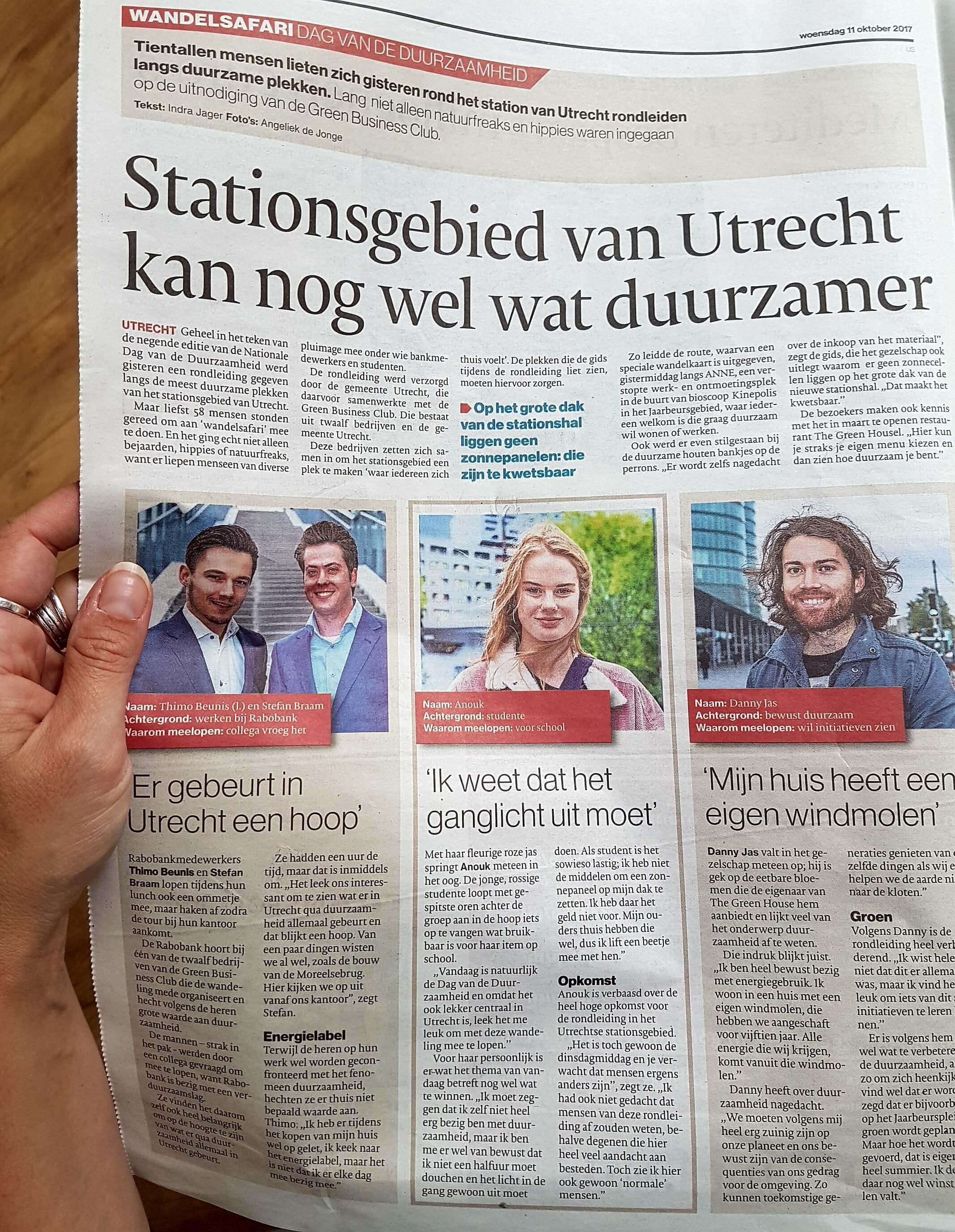 Op ontdekkingstocht door duurzaam Utrecht Centraal - Green